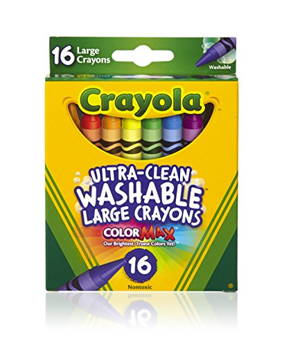 Crayola Washable Crayons, Large, 16 Count