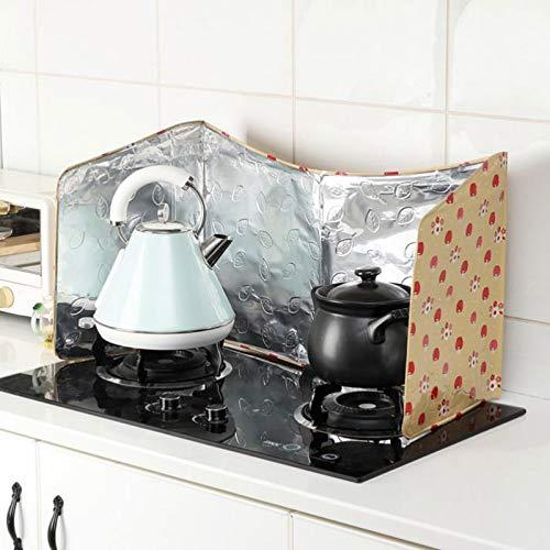 Protector antisalpicaduras de cocina Guardia de salpicaduras de aceite de cocina, salpicadura de aceite plegable Escudo de escudo de salpicaduras Pant
