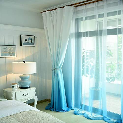 Abodos Cortinas, Color Semi-Sombreado De Color Aislado Térmico Cortina con Pantalla con Pantalla para Dormitorio Y Sala De Estar,Azul,1.5×2.5m
