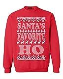 Shop4Ever Santa's Favorite Ho Crewnecks Ugly Christmas...