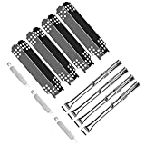Rejekar Grill Replacement Parts for Charbroil 463436215, 463436214, 463436213, 467300115, 463234413, Thermos 466360113, G432-Y700-W1, G432-0096-W1, Grill Burner & Heat Plate Shield & Crossover Tube
