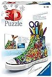 Ravensburger Puzzle 3D 12535 Graffiti Sneakers, Forma de Zapatillas de Deporte, de 108 Piezas