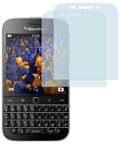 mumbi Schutzfolie kompatibel mit BlackBerry Classic Folie klar, Bildschirmschutzfolie (2X)