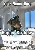 Tarjeta de felicitación de cumpleaños con diseño de perro Manchester Terrier Bd146