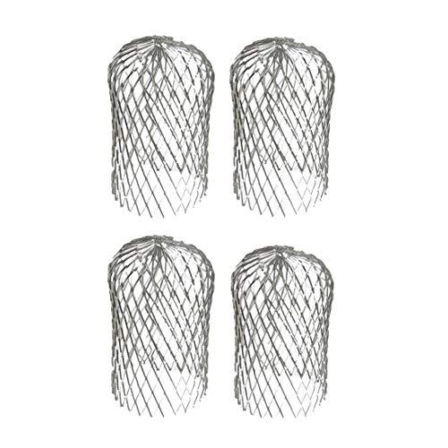 Moligh doll 4 StüCke Dachrinnen Schutz 3 Zoll Erweitern Aluminium Filter Sieb Stoppt Verstopfung Verl?Sst Schmutz