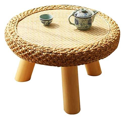 Mesa baja Mesa baja Escritorio de la computadora de tatami Altura, Mesa baja de la ventana de bahía mesa de mimbre sólidas mesas de madera de café simple tabla de la computadora de mesa tatami Cama en