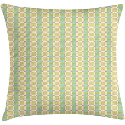 Ducan Lincoln Pillow Case 4 Stück 18X18 Zoll Moderne Dekokissen Kissenbezug,Linien Quadrate Simplistic Motive In Pastelltönen,Home Decor Square Akzent Kissenbezug