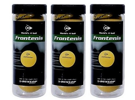 ANDsport Pelotas de Frontenis Dunlop Pack 3x3 Bolas