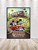 Mickey and Minnies Runaway Railway Poster Hollywood Studios Vintage Disney Attraction Posters Disneyland Disney World Home Decor Wall Art