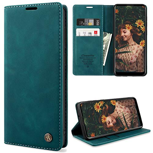 YIRSUR Kompatibel mit Samsung Galaxy A21s Hülle Premium Leder PU Flip Hülle Wallet Lederhülle Handyhülle Klapphülle Magnetisch Silikon Bumper Schutzhülle Kompatibel mit Samsung Galaxy A21s (Green)