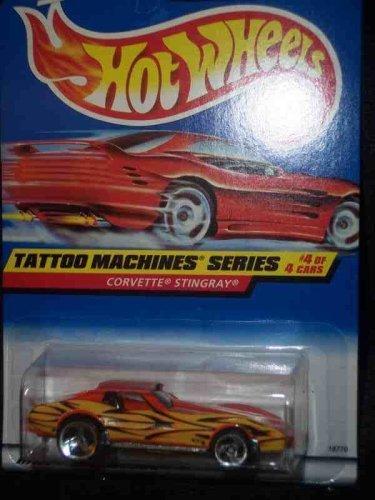 Tattoo Machines #4 Corvette Stingray 3-Spoke #688 Mint by Hot Wheels