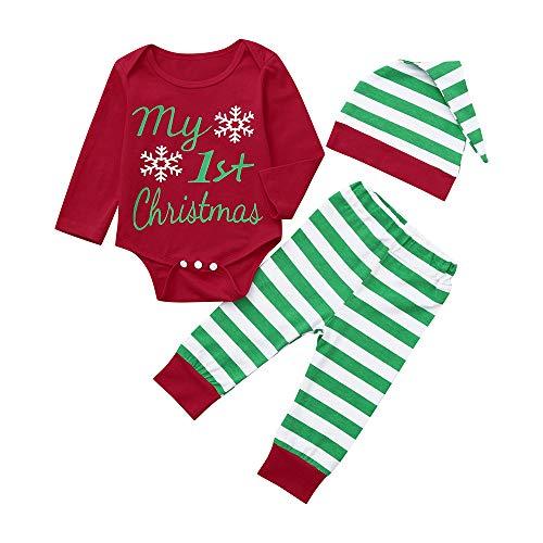 My 1st Christmas Clothes neonato neonato bambina manica lunga tutina natale con cappuccio tuta da alce natale autunno inverno