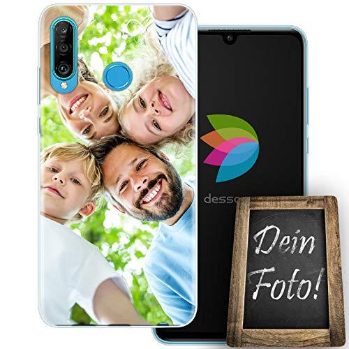 dessana Customize Eigenes Foto durchsichtige Schutzhülle Handy Tasche Hülle für Huawei P30 Lite