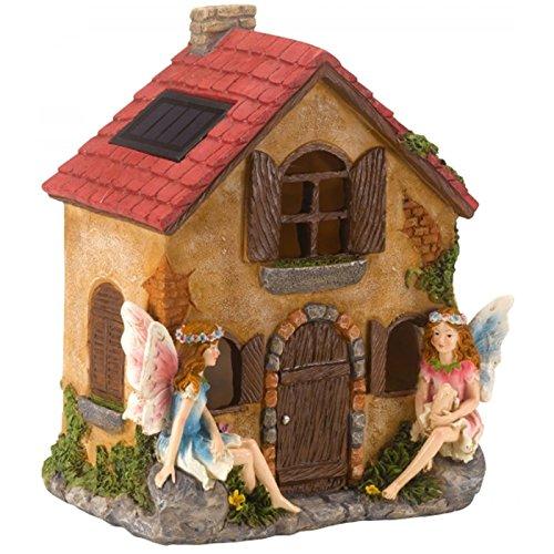 Smart Garden Products 1020982 1020982-Casa de Hadas con luz 21x16 cm, Marrón