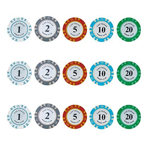 STOBOK 50 Stücke Texas Poker Chips Set Mitgebsel Spielzeug für Kinder Partyspiele Reisespiele