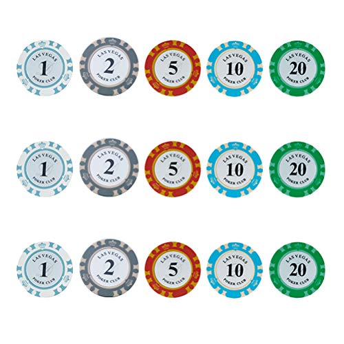 STOBOK 50PCS Texas Poker Chips Milano Casino Grade Clay Poker Chips Samples...