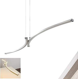 Lámpara Colgante LED Seward altura regulable - 2x 8W LED alta eficiencia Color Níquel & Cromo para cocina Comedor
