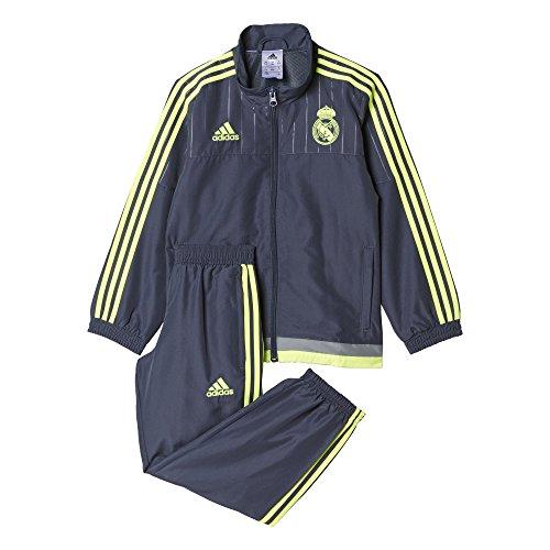 adidas Jungen Trainingsanzug Real PR Suit I, Schwarz/Gelb, 104