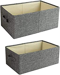 MU Grand Pliable Boîte de rangement en tissu, chaussettes Uncovered Short Boîte de rangement, Type de tiroir Armoire Boîte...