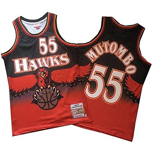 TINKOU Camiseta de Baloncesto Deportivo, Camiseta sin Mangas Suelta Transpirable de Baloncesto n. ° 55 para Hombre de la NBA, Adecuada para Chaleco Deportivo al Aire Libre