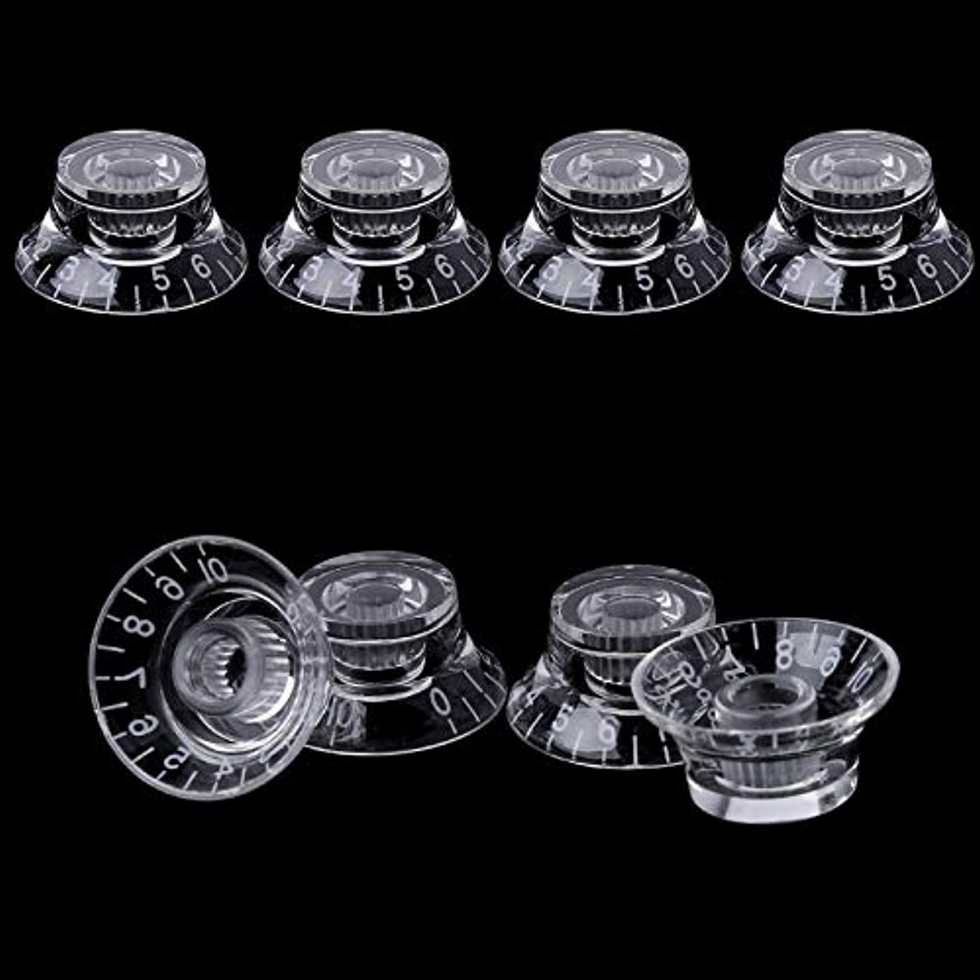 Susie-Smile - 1pc Knob Button Bell Shape Guitar Tone Volume Control For LP Guitar Parts Transparent White