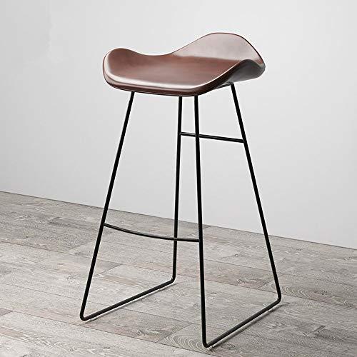 WJT-Barstool Modern Minimalist Bar Stool Home Bar Creative Coffee Casual Dining Stool Nordic Wrought Iron High Bar Chair Size: 46×44×86cm Load Capacity: 300kg