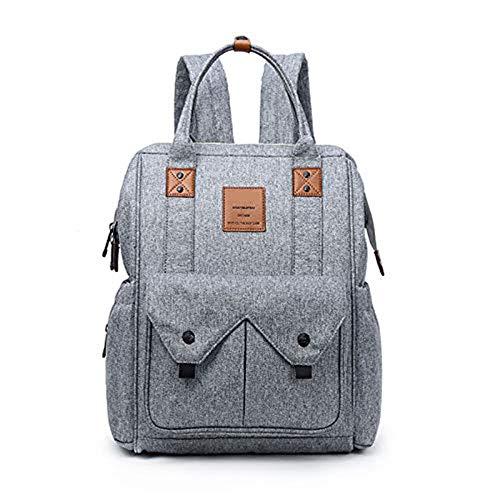 Multifunktional Baby Wickelrucksack Babytasche Wickeltasche mit Wickelunterlage Große Kapazität Reisetasche für Unterwegs (Wickelrucksack)