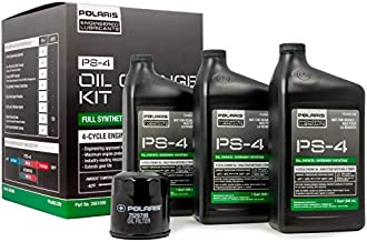 Polaris Full Synthetic Oil Change Kit, Fits RZR XP Turbo, 2881696, 3 Quarts of PS-4 Engine Oil and 1 Oil Filter