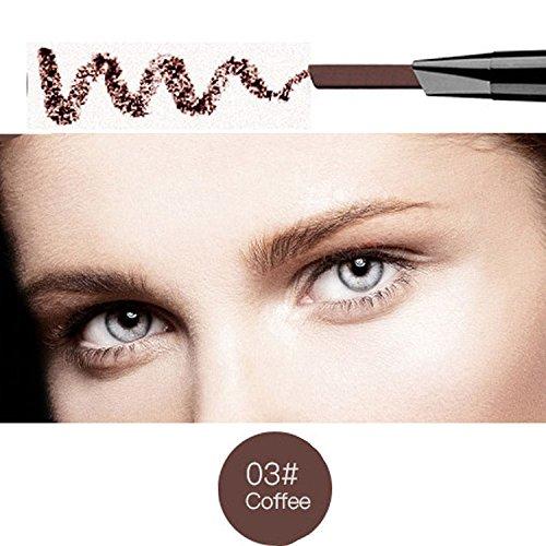 Magical Halo Crayon à sourcils café étanche précision sourcils double extrémité (café/Coffee # 3)