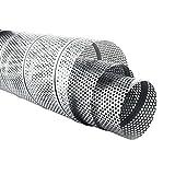 MKK - Wickelfalzrohr Perforiert Verzinkt 1 m Lang 5 mm Lochblech Ø 80 x Ø 200 mm 80 mm