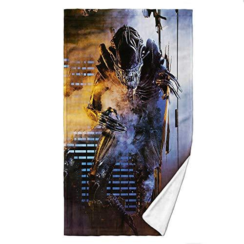 Digital Pharaoh Badetuch Handtush Alien Xenomorph Grusel Filmplakat Weyland Yutani Nostromo (140cm x 70cm)