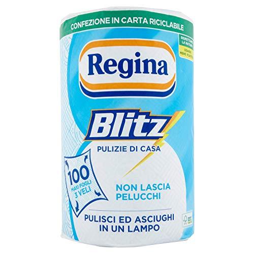 Reina – Blitz, un rollo de papel para cristal y superficies brillantes, 3 capas