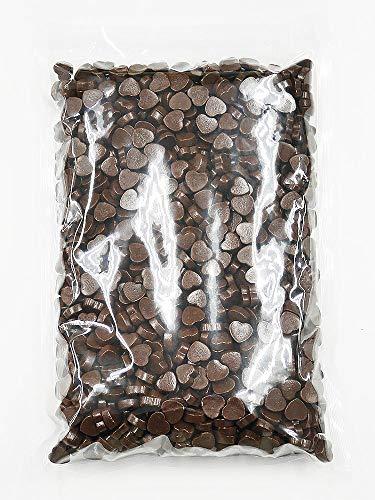 1kg ミニハートチョコ 約1,300個[業務用,製菓材料,トッピング素材にも利用できるハート型のミルクチョコレート]
