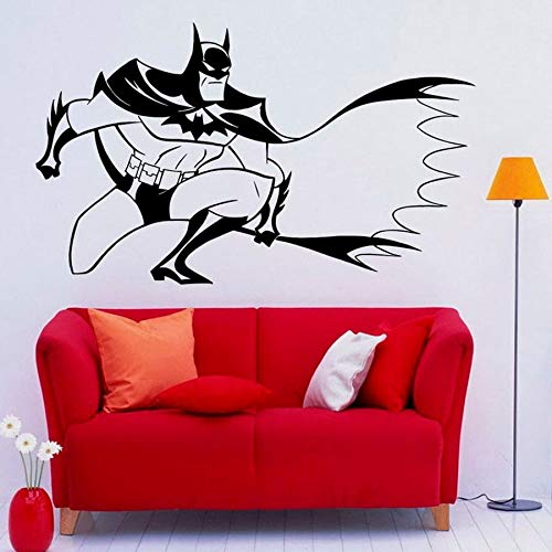 wopiaol Tatuajes de Pared Caballero Oscuro Superhéroe Vinilo Adhesivo de Pared Interior Hogar Vivero Niños Niños Dormitorio Decoración Cool Man