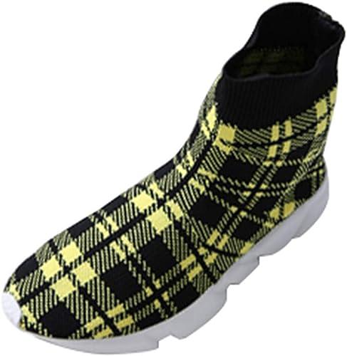 Qiusa Femmes Femmes Mocassins Easy Walk Slip-on Léger Confort Loisirs Mocassins Chaussures paniers (Couleuré   Jaune, Taille   41EU)  pas cher en haute qualité