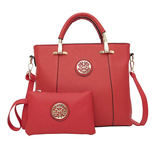 Rucksack Mutter Tasche Zweiteilige Flut Nationalen Wind Tragbare Mode Damen Litschi Muster Schulter Messenger Bag Temperament Klassisch Großzügig Einfachheit Preis-Leistungs-Verhältnis Rot