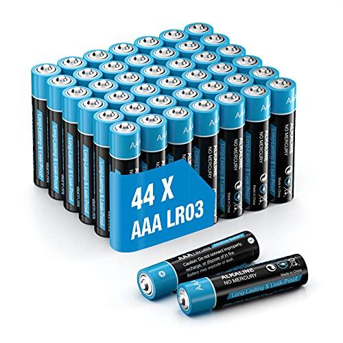 Piles alcalines 44pcs AAA Lot de...