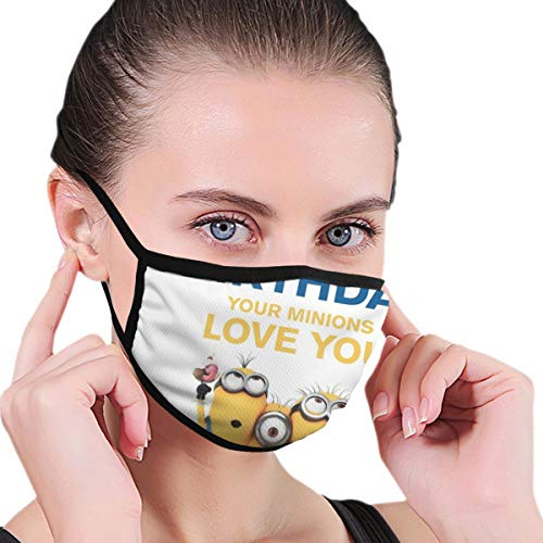 Sonickingmall Unisex Minions Bananen-Gesichtsmaske, Mundschutz, staubdicht, Halstuch, Sturmhaube zum Angeln