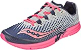 Saucony womens Type A9 Running Shoe, White/Pink, 8.5 US