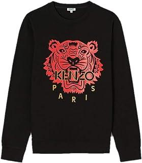 Kenzo - Felpa Tiger da uomo, 100% cotone, colore: Nero