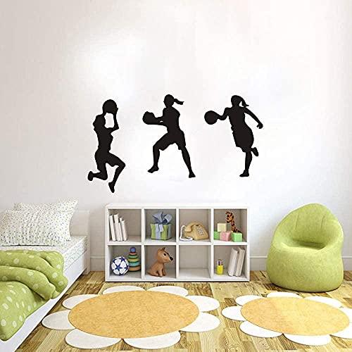 Etiqueta De La Pared Diseño Creativo Clásico Dormitorio Arte Tatuajes De Pared Baloncesto Habitación De Los Niños Mural Decoración Calcomanías Extraíbles Adesivo De Parede 35X54Cm