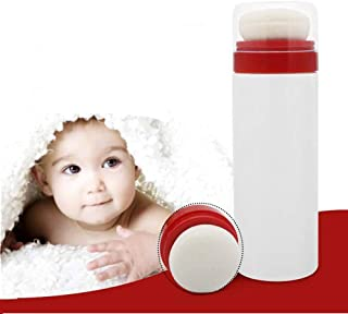 Joly Baby Powder Puff Kit After-bath Powder Puff Container Large Capacity Case (White)