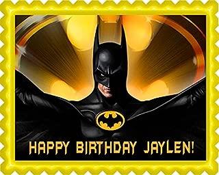 Batman Yellow - Edible Cake Topper - 7.5