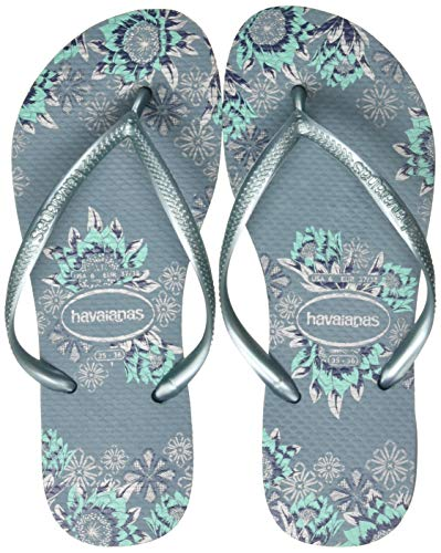 Havaianas Women's Flip Flop Sandals, Silver Blue, 35/36