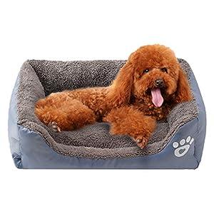 Kimfoxes Panier pour chien chaud Deluxe Lits pour chiens Animal domestique et d'autres petits animaux lavable