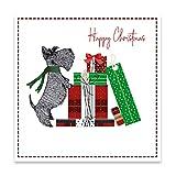 Christmas Cards - Tarjetas de Navidad (150 x 150 cm), diseño de Terrier escocés