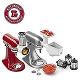 KitchenAid KSMFPPA Slicer/Shredder + Grinder/Strainer Mixer Attachment Pack, White