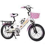 FUFU 16/18/20 Pulgadas, Bicicletas para Niños, Bicicletas para Niños De Acero Altamente Carbono, Regalos para Niñas De 5 A 14 Años.(Size:16in)