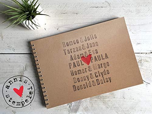 fotoalbum, scrapbook A4, liebe, mit wunschtext