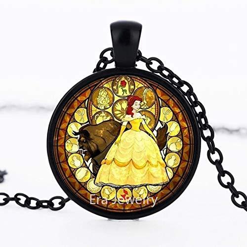 Fairy Tale Princess - Collar con colgante de cristal con diseño de hada, color plateado